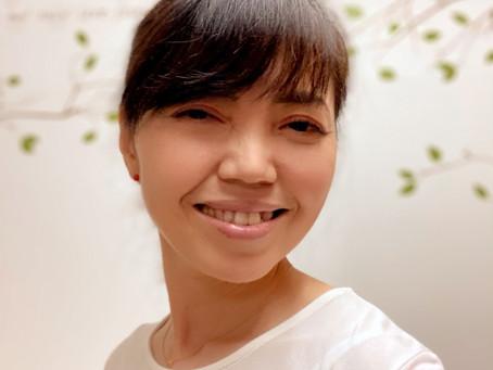 プロフィール写真、替えました〜!   手作りライト照明教室 PAPERMOON(東京 自由が丘)