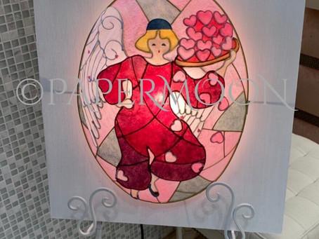 【生徒作品】ウェディング用ウェルカムライト | 手作りライト照明教室 PAPERMOON(東京 自由が丘)