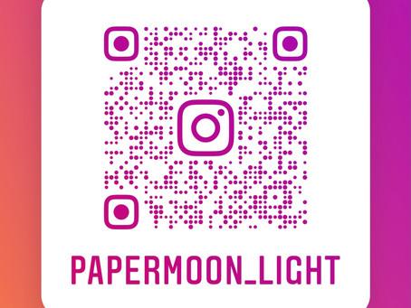 インスタ、はじめました‼️ | 手作りライト照明教室 PAPERMOON(東京 自由が丘)