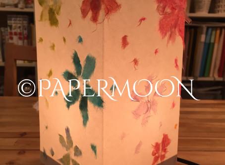 【生徒作品】春を呼ぶ和紙あかり   手作りライト照明教室 PAPERMOON(東京 自由が丘)