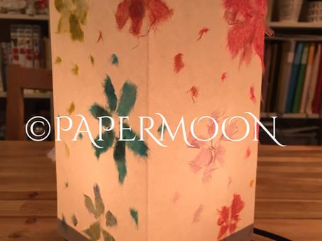 【生徒作品】春を呼ぶ和紙あかり | 手作りライト照明教室 PAPERMOON(東京 自由が丘)