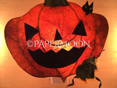 ハロウィンランプ | 手作りライト照明教室 PAPERMOON(東京 自由が丘)