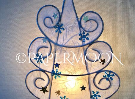 【クリスマス期間限定】ホワイトツリーライト | 手作りライト照明教室 PAPERMOON(東京 自由が丘)