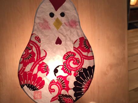 【ご挨拶&今月のオススメレッスン】新春1day レッスン 酉のあかり | 手作りライト照明教室 PAPERMOON(東京 自由が丘)