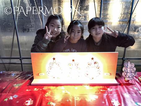 クリスマスワークショップ@福島  | 手作りライト照明教室 PAPERMOON(東京 自由が丘)
