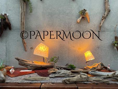 御礼 nagare-mono展無事終了 | 手作りライト照明教室 PAPERMOON(東京 自由が丘)