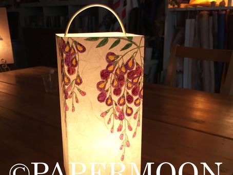 藤の和紙あかり【生徒作品】 | 手作りライト照明教室 PAPERMOON(東京 自由が丘)