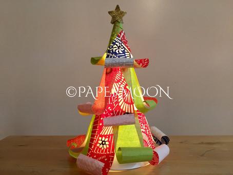 【今月の特別レッスン】和柄のクリスマスツリーライト 〜手作りライト教室 PAPERMOON(東京 自由が丘)〜
