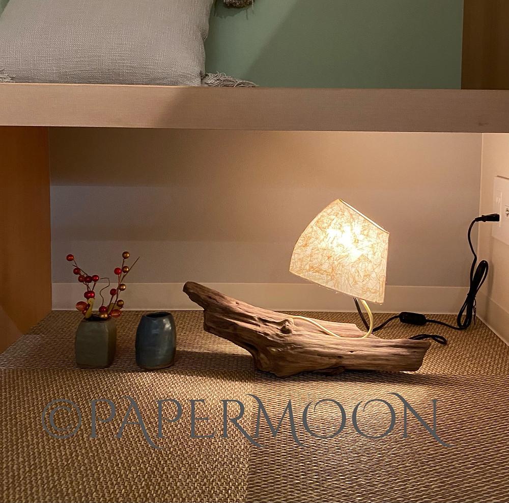 流木ランプ 手作りあかり教室 PaperMoon(東京 自由が丘)