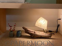流木ランプ ご紹介   手作りあかり教室 PaperMoon(東京 自由が丘)