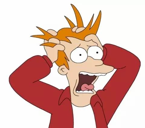 Fry panic caos psicólogo