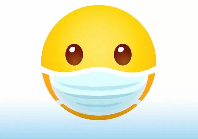 covid19 emoticono mascarilla psicólogo