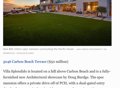 Forbes Magazine features my image of $50 million, brand new, architectural Malibu mansion