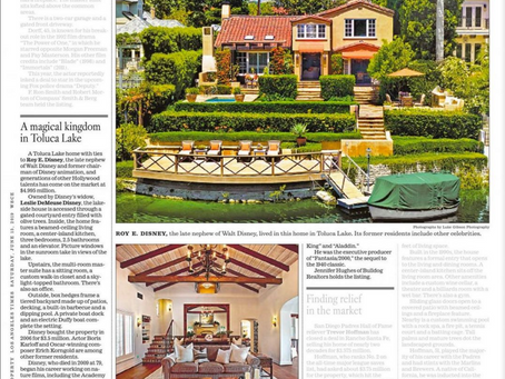 LA Times features my imagery of Roy Disney's former residence