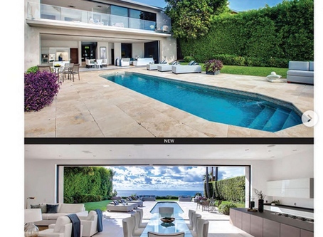 My images of Malibu oceanfront architectural in ad