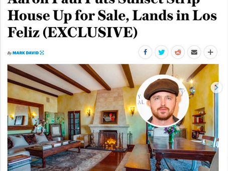 My photography of actor Aaron Paul's house in Variety Magazine