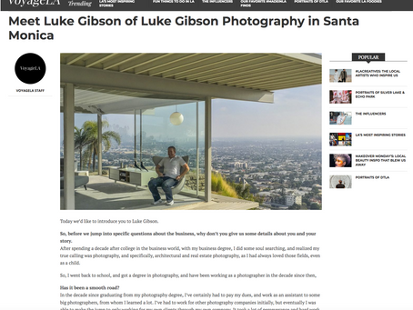 Voyage LA interviews me for article on my photography