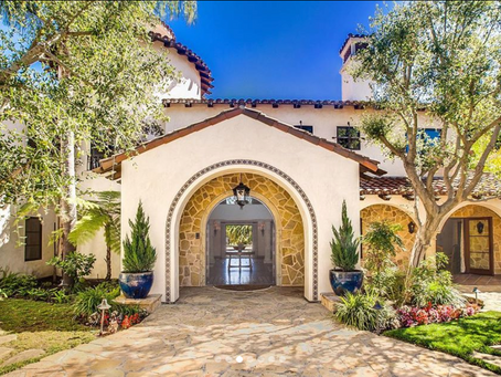 Villa Capistrano mansion featured in LA Times with my imagery