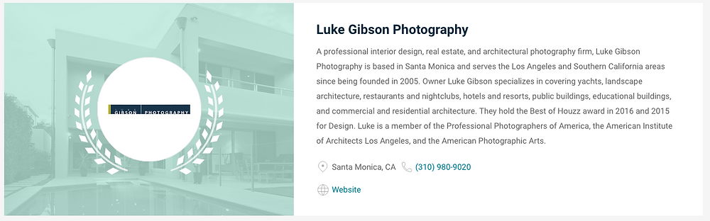 Luke Gibson Photography top real estate photographer in Los Angeles