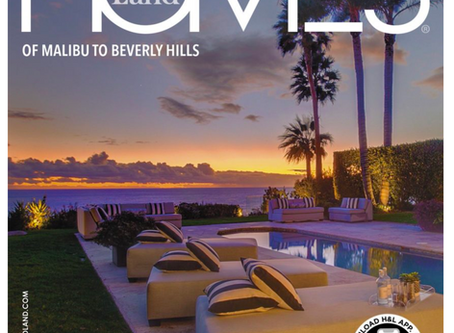 My image on cover of Homes & Land of Beverly Hills to Malibu magzine