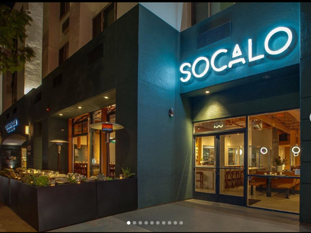 My images of new Socalo Restaurant showcased on Eater blog