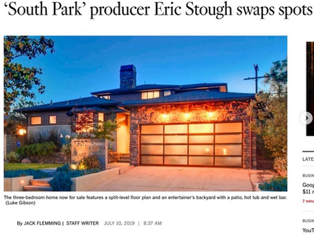LA Times features my images of director & producer Eric Stough's residence