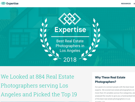 Expertise website selects Luke Gibson Photography as one of the top real estate photographers in LA