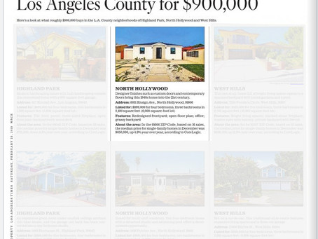 LA Times features my images of a Modern Farmhouse style residence