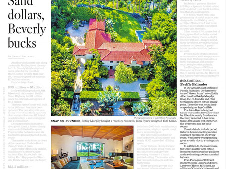 My aerial drone image of John Byers-designed mansion showcased in the LA Times