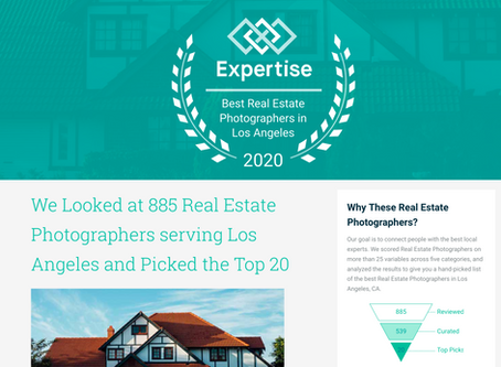 Luke Gibson Photography rated in the Top 20 Real estate photographers in LA, out of 885