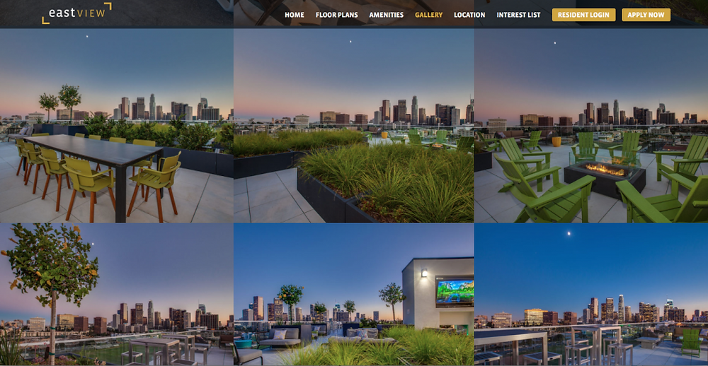 Los Angeles Apartment community photography by Luke Gibson Photography
