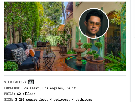 Variety Magazine features my images of Los Feliz villa that super-producer Frank Dukes purchased