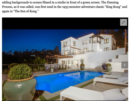 LA Times features my imagery of Hollywood Hills Spanish estate