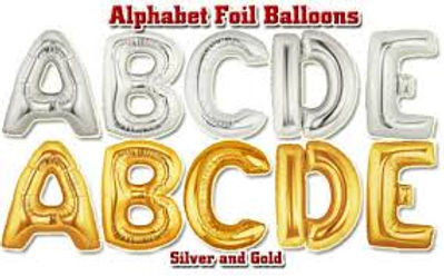 "Balloon 40"" Foil Letters and Numbers"