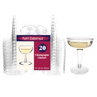 Champagne Cups 2pc 4oz 20ct