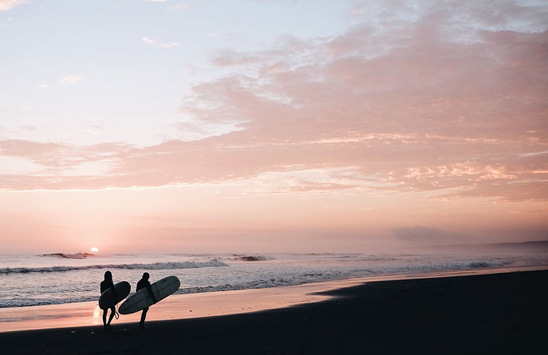 Surfers on the Beach