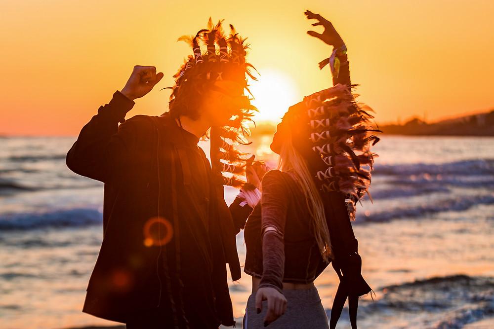 Sunset dancing festival photographer