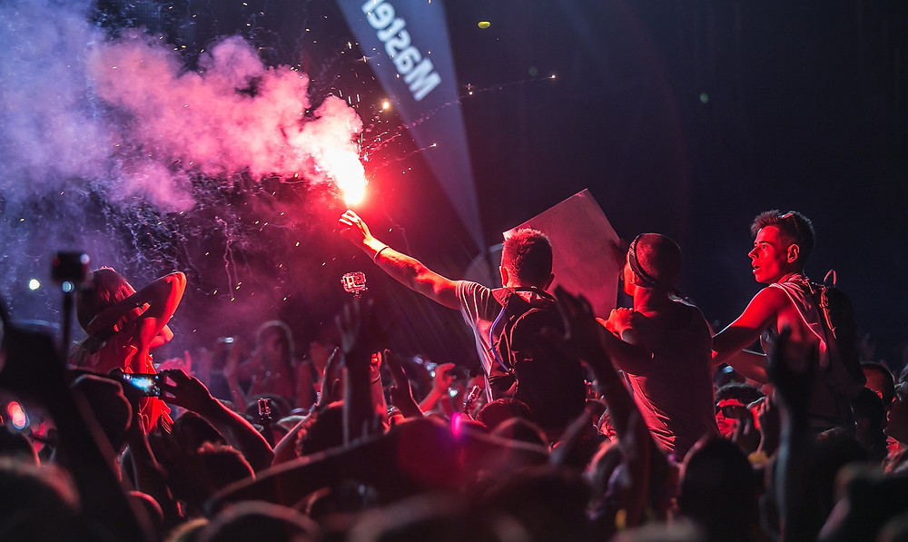 Stadium flare at Ultra Europe