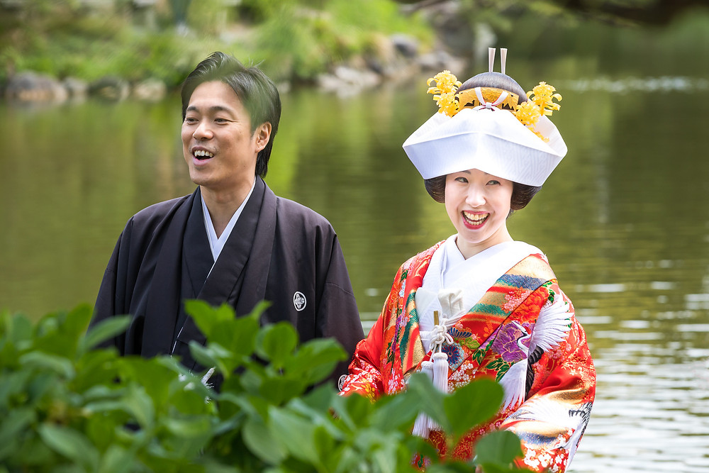 Japanese couple married