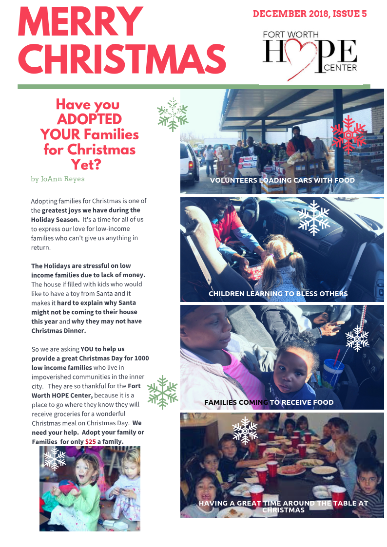 Merry Christmas - Christmas for families in Poverty find life and HOPE through YOU!