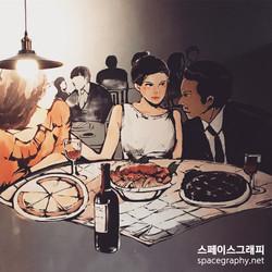 이탈리아음식점_레스토랑벽화_레스토랑인테리어_스페이스그래피_실내벽화_3