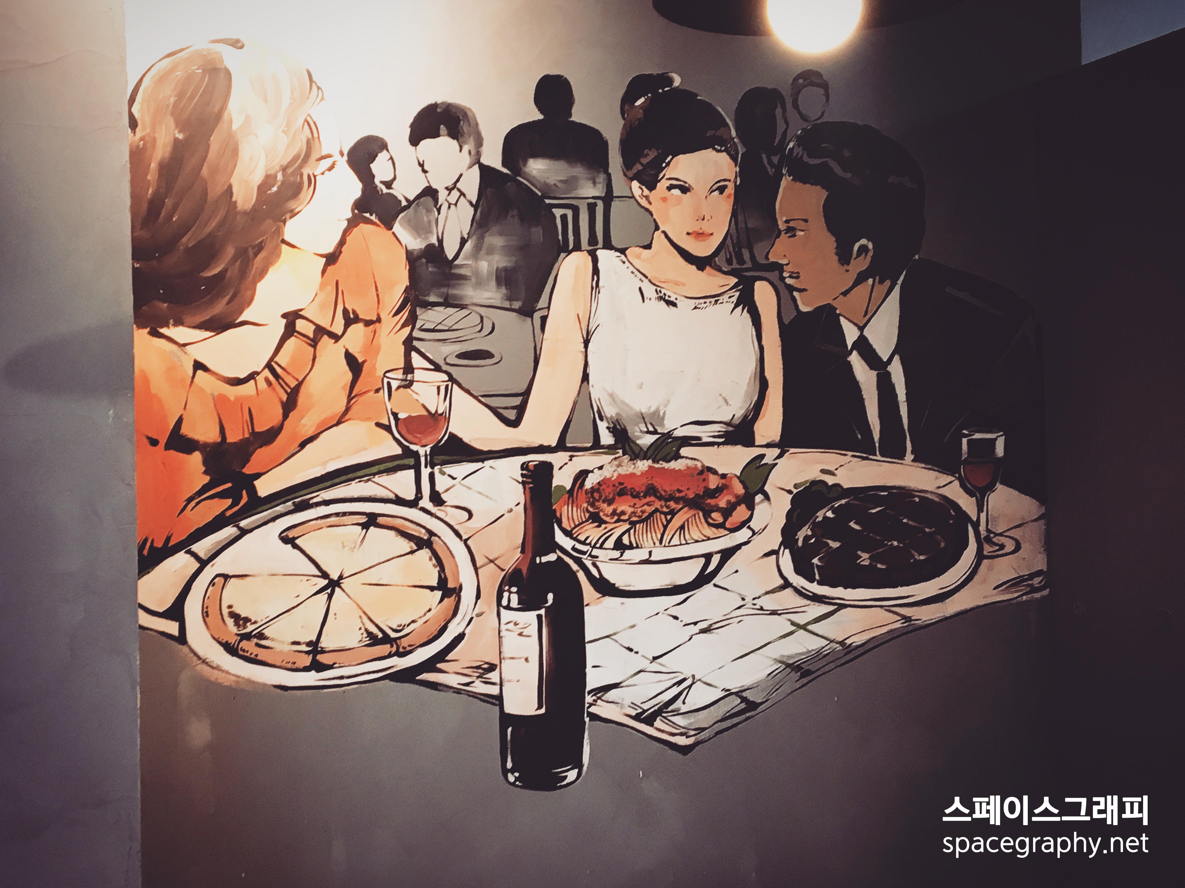 이탈리아음식점_레스토랑벽화_레스토랑인테리어_스페이스그래피_실내벽화_2