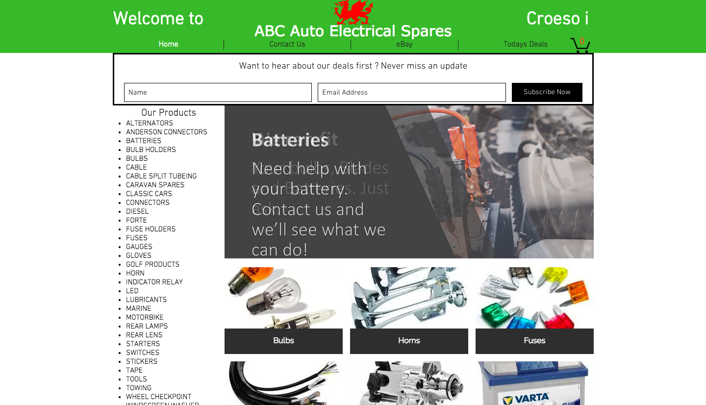 Abc Auto Electrical Spares Car Parts Mochdre Industrial Estate Main Fuse Box Ebay Marine Products