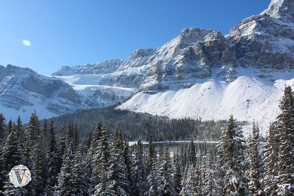 crowfoot banff glaciar