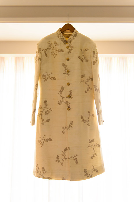 Asian grooms floral embroided sherwani