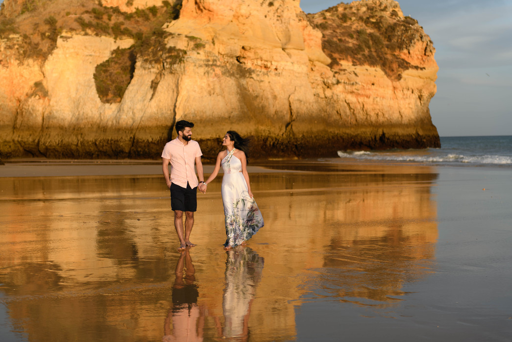 Engagement shoot in the Algarve ahead of their destination wedding in Portugal
