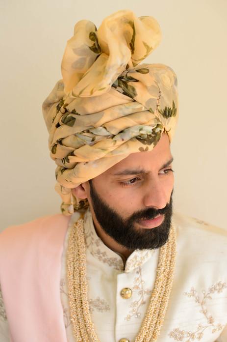 Asian groom ahead of his Hindu wedding ceremony