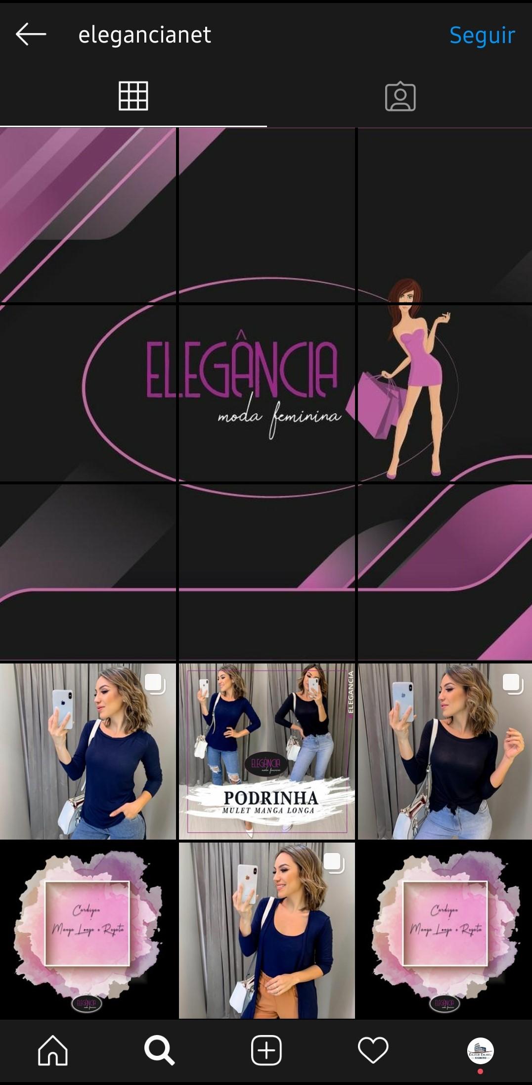 Elegancia Moda Feminina Instagram