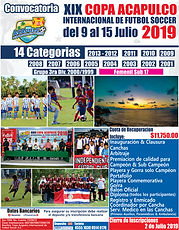 Convocatoria 1 Oficial XIX Copa Acapulco