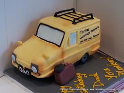 You Plonker! Robin Reliant car cake